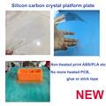 De silicio de carbono acrílico 3d impresora construir bancada no necesita calefacción impresión abs/pla/filamento de nylon
