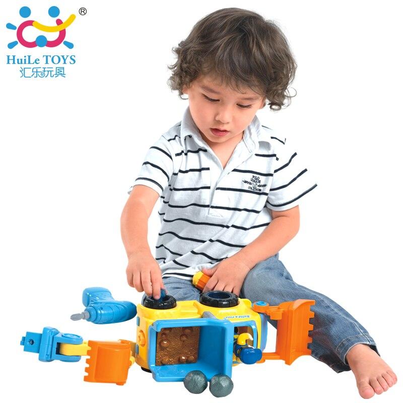 Детей DIY Электрический игрушки автомобиля Engineering бетономешалка грузовик игрушки с подсветкой и музыка для малышей мальчиков Игрушки Huile 566CD
