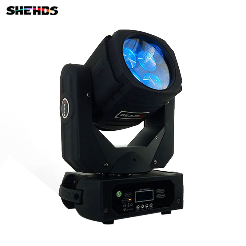 цены LED 4x25W Super Beam Moving Head LED Beam Light perfect Effect Light for DJ Disco Party Lighting Fast Shipping