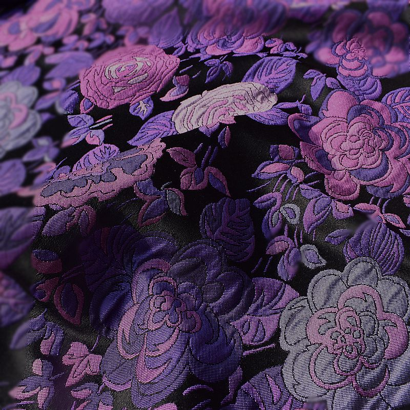 Hot sale French imports Large flower yarn dyed jacquard tapestry satin fashion fabric for coat tissu au meter bright cloth DIY in Fabric from Home Garden