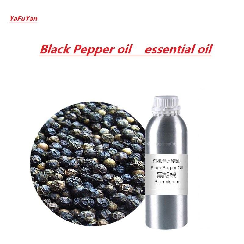 Cosmétiques huile de Poivre Noir huile essentielle biologique pressée à froid