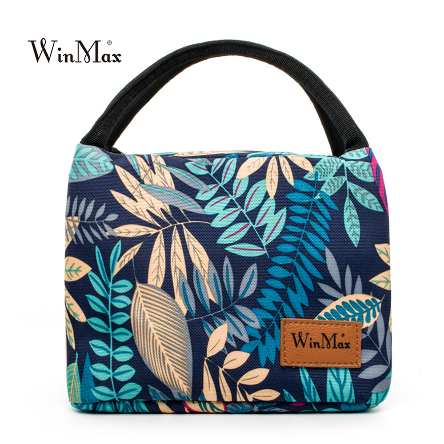 Winmax Brand 2018 Food Fresh Keep Lunch Box Bag Polyester Waterproof Picnic Travel Storage Thermal Insulated Fashion Lunch Bags
