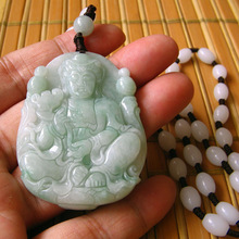Natural jade pendant Buddha Men and Women Jade necklace Fine Jewlry