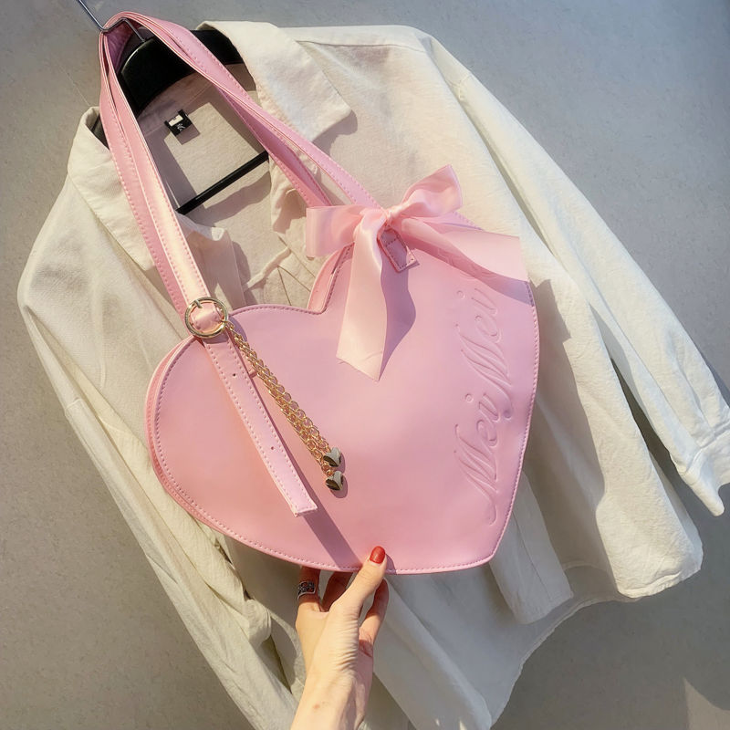 Womens Brand Bag Large-capacity Red Handbags Designer Luxury Handbag 2019 New Women Bag Cute Pink Leather Large Shoulder Bags
