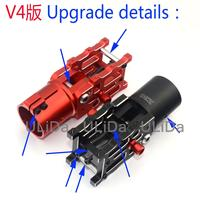 New Version V4 D30 CNC Aluminium Folding Arm Joint Fitting Double screw locking & spring (suit for D30mm Tube) Auto Edition