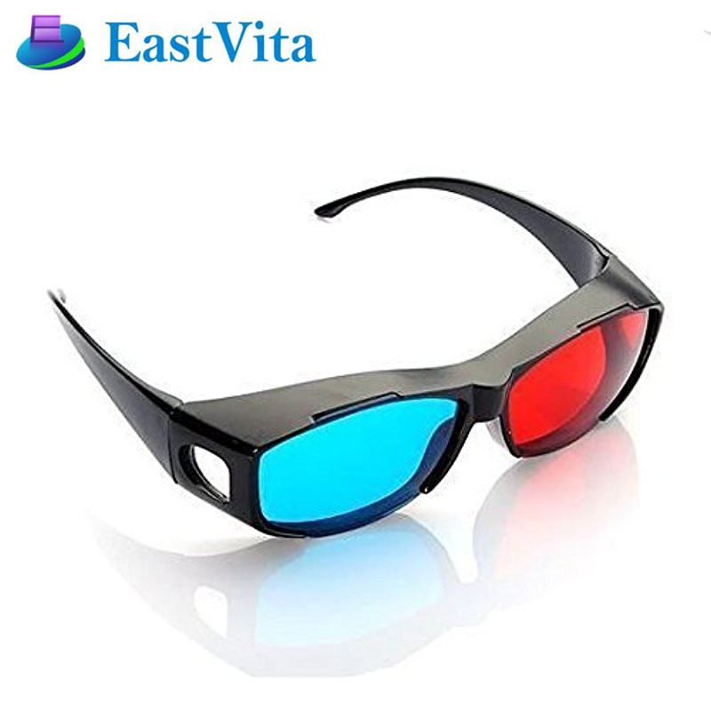EastVita 3D Glasses Red Blue Anaglyph Framed 3D Vision Glasses for Game Stereo Movie Dimensional Glasses Plastic GlassesYJ02 r10