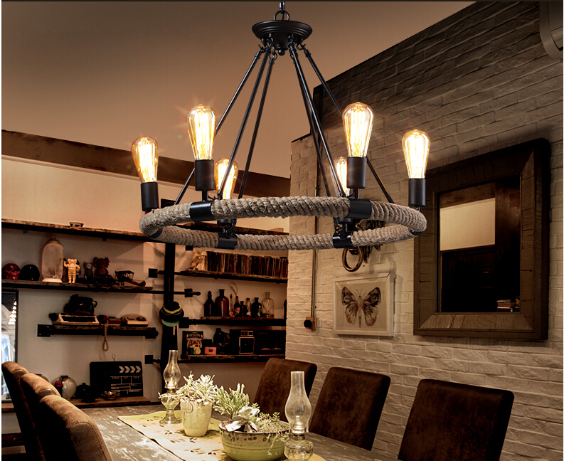 Zyy Best Price Vintage American Country Rope Ceiling
