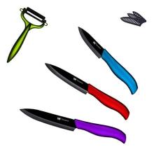 """Xyj marca cuchillos de cocina de la manera nuevo 3 """"de pelado 4"""" Cuchillo 5 """"rebanar el Cuchillo De Cerámica Negro Hoja de Herramientas de Cocina de Alta Calidad"""
