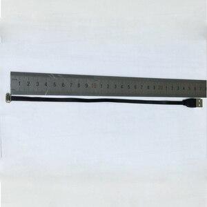 Image 3 - Плоский ультратонкий сверхмягкий низкопрофильный ленточный кабель для зарядки и передачи данных 25 см с Micro USB 90 градусов на usb 2,0
