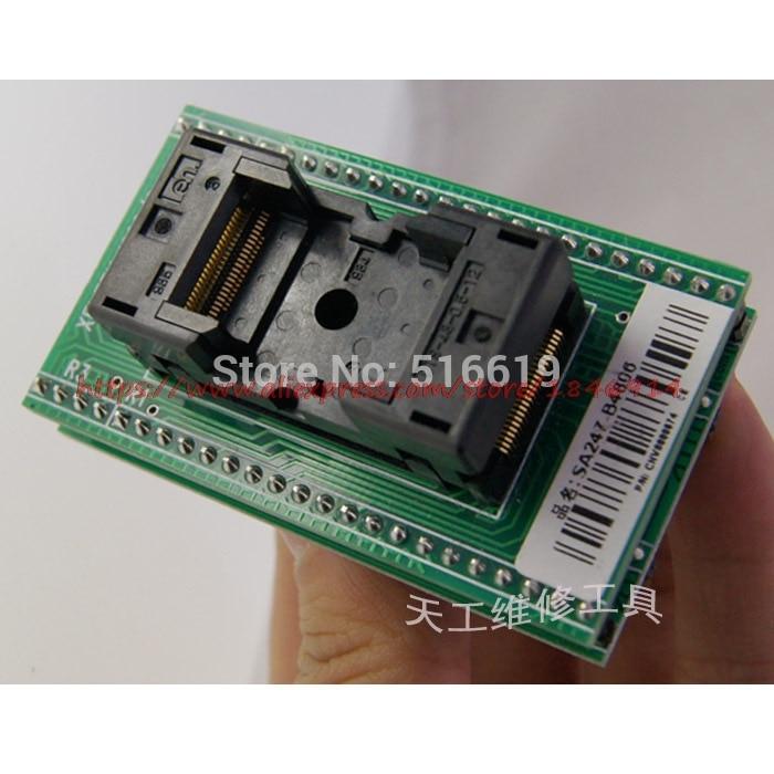 Free Shipping   SA247-B4806 Burning Seat Adapter Adapter Block BIOS Block TSOP48, J34 Conversion