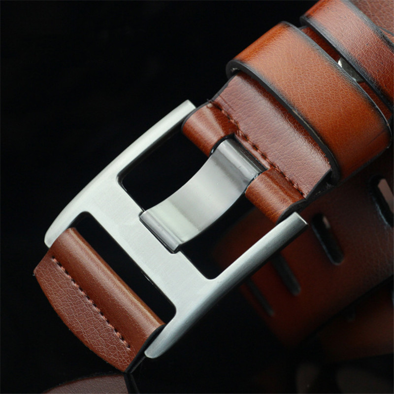 2019 Leather Belt for Men PU Leather Waist Strap Designer Pin Buckle Belt Men Vintage Luxury Belt Male Casual Jeans Belts in Men 39 s Belts from Apparel Accessories