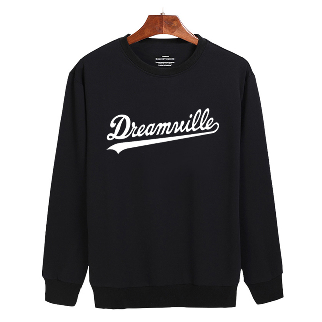 High Quality Dreamville 3xl Black/White/Gray Harajuku Sweatshirt Cotton in Fashion Design Mens Hoodies and Sweatshirts 2016