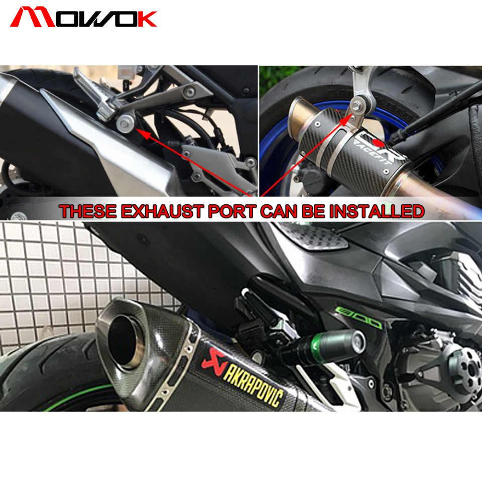 Kecelakaan Bantalan Exhaust Slider Crash Protector untuk Z250/Z300/Z800/Z750 Ninja 250/Ninja 300 Z1000 z1000SX Z650 Z900