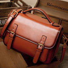 women handbag female shoulder Messenger bag retro leather handbags Cambridge bags tide Bag fashion new fashion leather handbags big bag top layer leather handbag ladies shoulder bag platinum bag tide