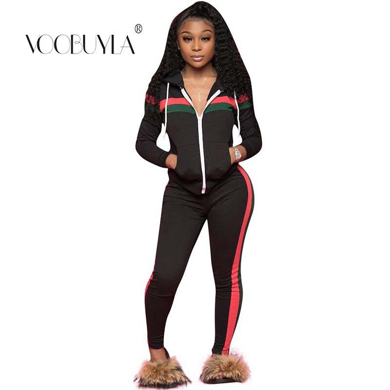 Sports & Entertainment Voobuyla New Hooded Zipper Running Set Sweater Suit Women Sports Tracksuits Plus Size 3xl Sportswear Jogging Fitness Workout Set Running Sets