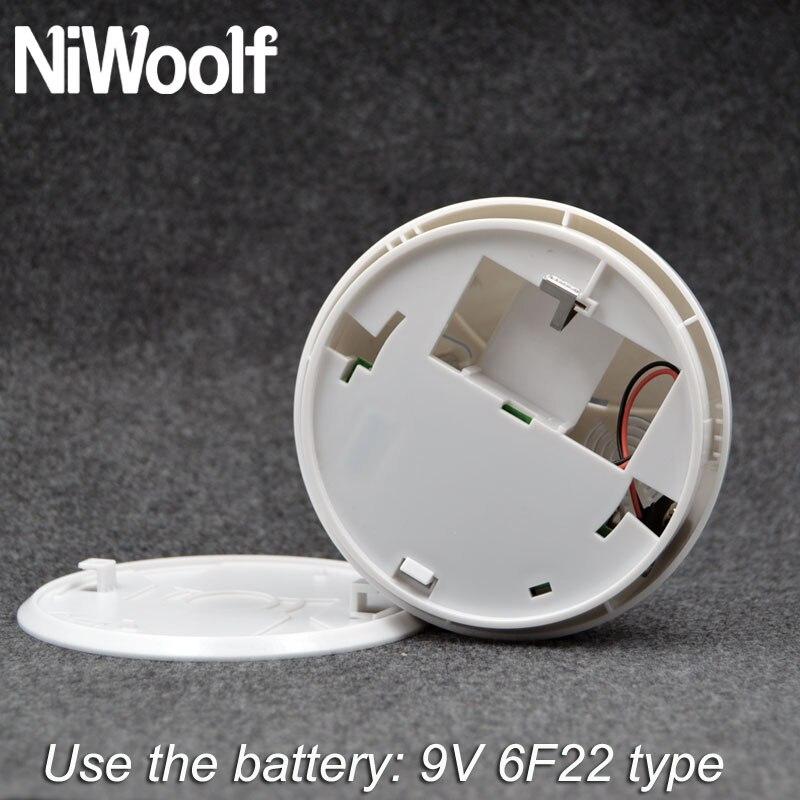 Wireless 433MHz Smoke Sensor Detector Built-in Transmit Antenna Long Distance