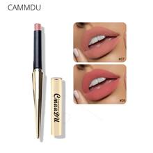 Купить с кэшбэком CMAADU Matte Lipstick Wateproof Double Ended Long Lasting Lipsticks Brand Lip Makeup Cosmetics Nude Dark Red Lips Liner Pencil