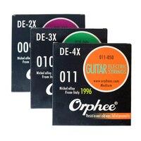 Orphee Professionele DE Serie 009-042, 010-046, 011-050, elektrische Gitaar Snaren Italië Nikkel Legering