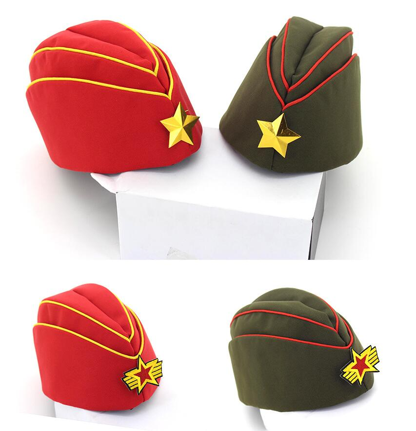 Que no chuveiro cap estrela vermelha de algodão tampão de marinheiro ... ea1967a96da