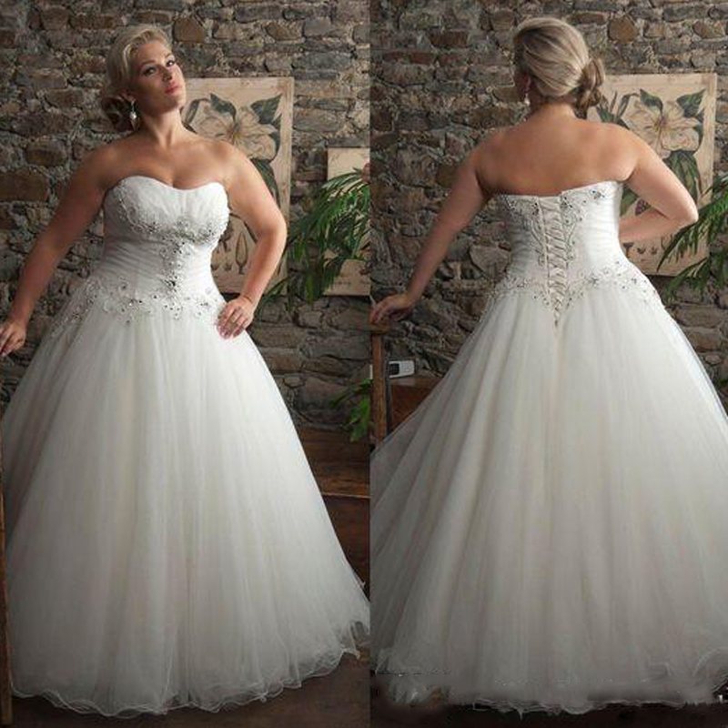 Buy plus size wedding dress 2016 for Plus size beaded wedding dresses