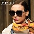 MIZHO С Жемчугом Дизайнеры Роскошные Солнцезащитные Очки Женщин Поляризованный Старинные Высокое Качество Ацетат КОРОБКА HD Линзы Polaroid Очки UV400