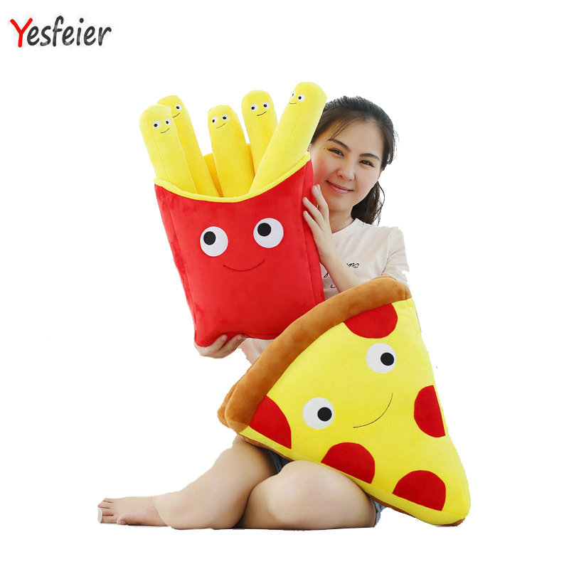 50cm Drop new style Cute artificial chips plush toys cartoon Pizza pillow cushion stuffed kids baby toy ...