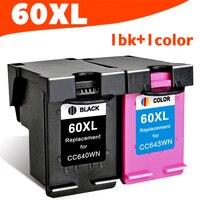 2pcs For Hp 60 Hp60 XL Ink Cartridge For HP Deskjet F2480 F2420 F4480 F4580 D2660