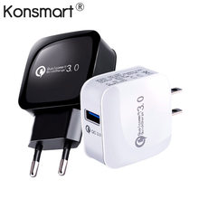 Quick Charge 3.0 15W Travel Wall Fast Charger For Xiaomi Mi 2S 6 Redmi Note 5 For iphone X Samsung HuaWei Mobile Phone KONSMART(China)