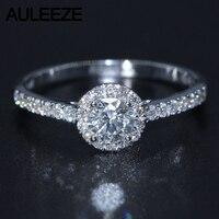 Halo 0.3CT обручальное кольцо 925 пробы серебряные ювелирные изделия Лаборатория Grown обручальные кольца с брилиантами для женщин серебряные ювел