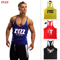 Top Homens tanque ZYZZ Singletos Fitness Musculação Longarina Ouros Ginásios Camisa Do Músculo Vest Sportwear Roupas Corpo de Engenheiros