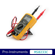 MS8233C Manual Range Mini Palm Size Digital With Backlight TemperatureMultimeter Students Teaching School USE Multimeter 10A 200