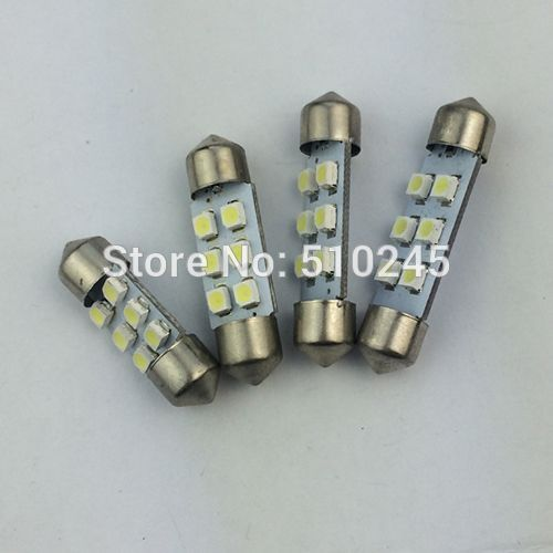 1000x Big sales Wholesale Car led festoon light c5w 6 SMD led 6smd 3528 31MM 36MM 39MM 41MM Auto led bulbs Free shipping