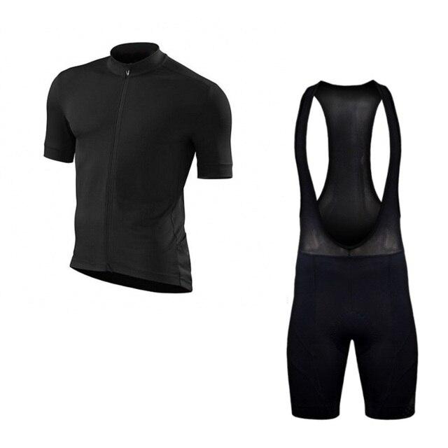 SGCIKER Pro equipe fit plain cor preta camisa de ciclismo Bicicleta 5D GEL  pad Ropa maillot 787ddcb51265b