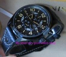 Sapphire Crystal 43mm PARNIS Japanese quartz movement men's watch Auto Date Multi-function quartz watches 10Bar