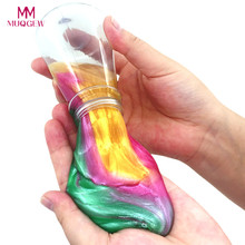 2017 Wishing Bottle Starry Sky Colorful Soft slime diy fluffy Slime Stress Relief Toy adult decompress Slime fluffy slime toys(China)