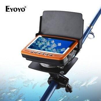 Eyoyo Original 7HBS 15M Underwater Fishing Camera Fish finder 4.3 LCD Monitor 1000TVL CAM 8pcs Infrared LED Sunvisor ORANGE EYOYO