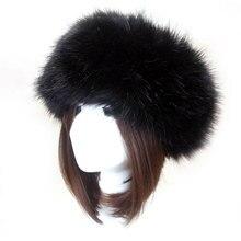 Зимняя Толстая Меховая повязка для волос пушистый русский искусственный мех для женщин и девочек Меховая повязка на голову шапка зимняя уличная шапка Лыжные шапки аксессуары для волос