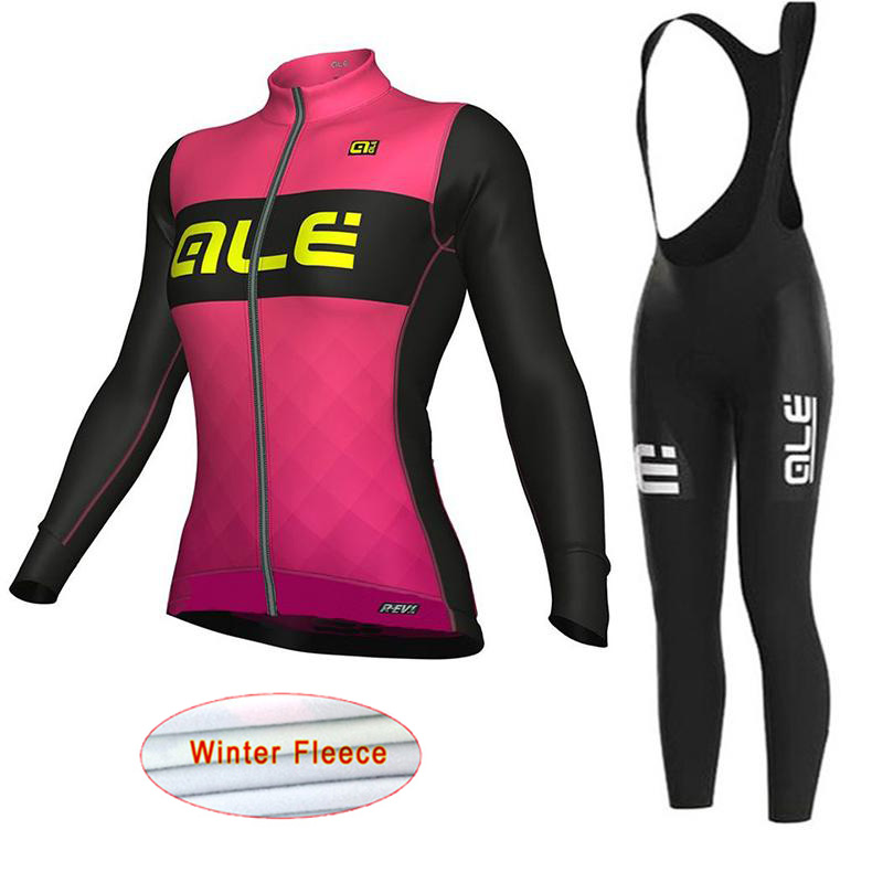 Maillot Ciclismo ALE Cycling Women Winter Thermal Fleece Long Sleeve Pro Cycling Jersey Bike Clothing MTB Bicycle clothes K2702 male team cycling jerseys autumn cycling clothes long sleeve bike jersey winter fleece bicycle riding suits free shipping