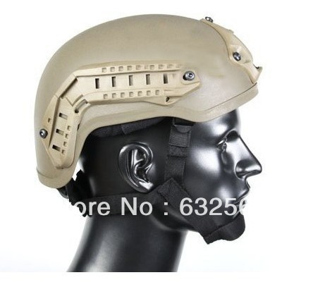 Tactical Paintball Airsoft War Game Protective Safety Helmet with NVG Mount with Side Rails