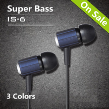 In ear Headset Noise Canceling Super Bass Ear phones Portable Hifi Headfone with package for Samsung iPhone xiaomi MP3