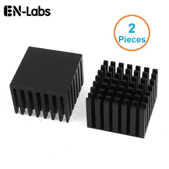 En-Labs 2 шт. анодированный черный алюминий радиатора 28x28 x мм 20 мм Электронный кулер радиатор для Northbridge Southbridge чип