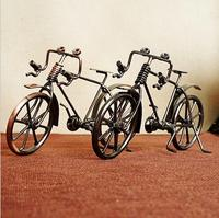 2018 Retro Metal Bronze Bike Model Hand Crafts Bicycle Figurine For Parents Nostalgic Gifts Boss Home Decoration Souvenir
