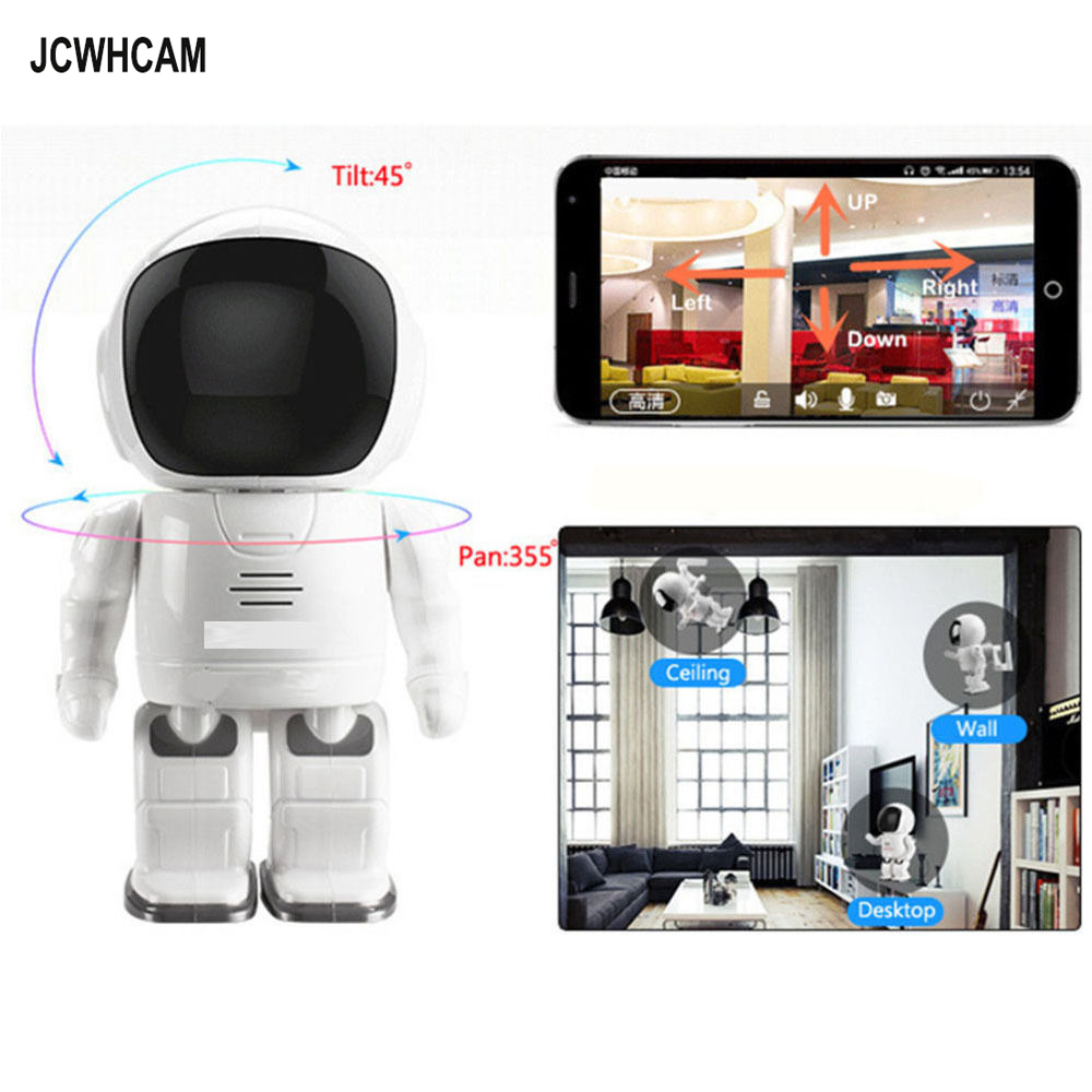 JCWHCAM 960P Robot Network IP Camera WIFI HD PTZ Audio P2P Onvif Night Vision SD TF Card Slot Security Cam Baby Monitor