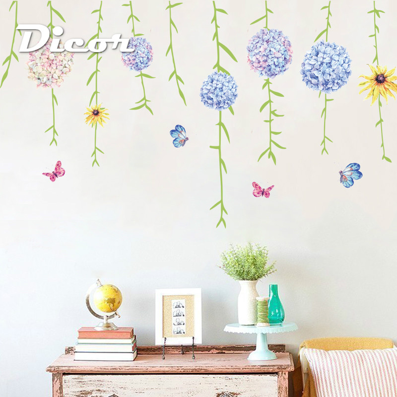 Study Room Decoration Diy: DICOR Wall Stickers Flowers Bouquet For Living Room