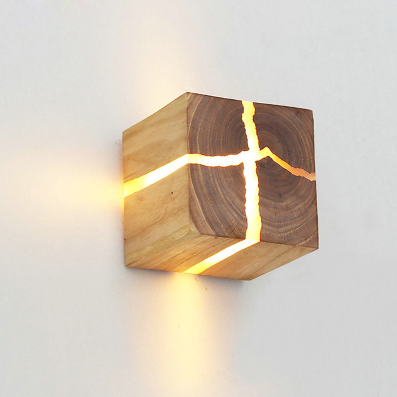 European Style Art Decoration LED Wall Lamp Bedroom Bedside Aisle Indoor Home Light Fixtures G4 Wood Wall Lamps For Living Room