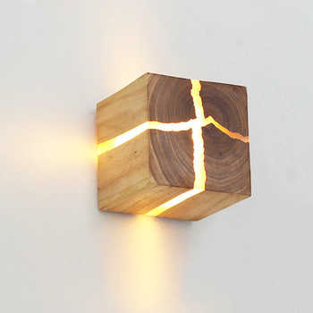 European Style Art Decoration LED Wall Lamp Bedroom Bedside Aisle Indoor Home Light Fixtures G4 Wood Wall Lamps for Living Room - DISCOUNT ITEM  30% OFF All Category