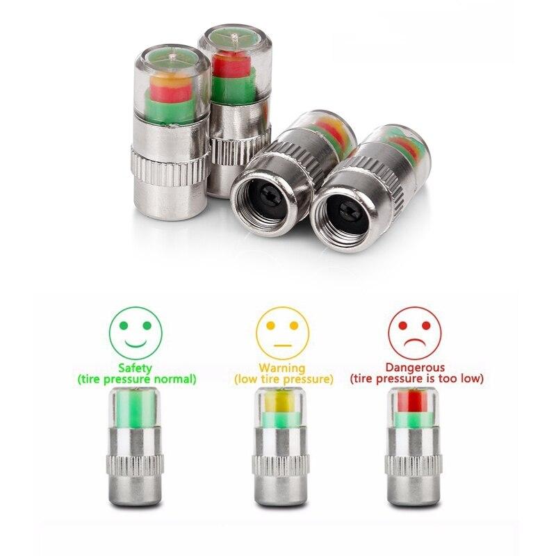 4PCS 2 4Bar 30PSI Car Auto Tire Pressure Monitor Valve Stem Tpms Caps Sensor Indicator Eye