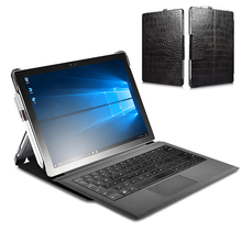 For Microsoft Surface Pro 5 2017 Case Business Pouch Cover Embossed Crocodile Genuine Leather Folio Case for Surface Pro 4