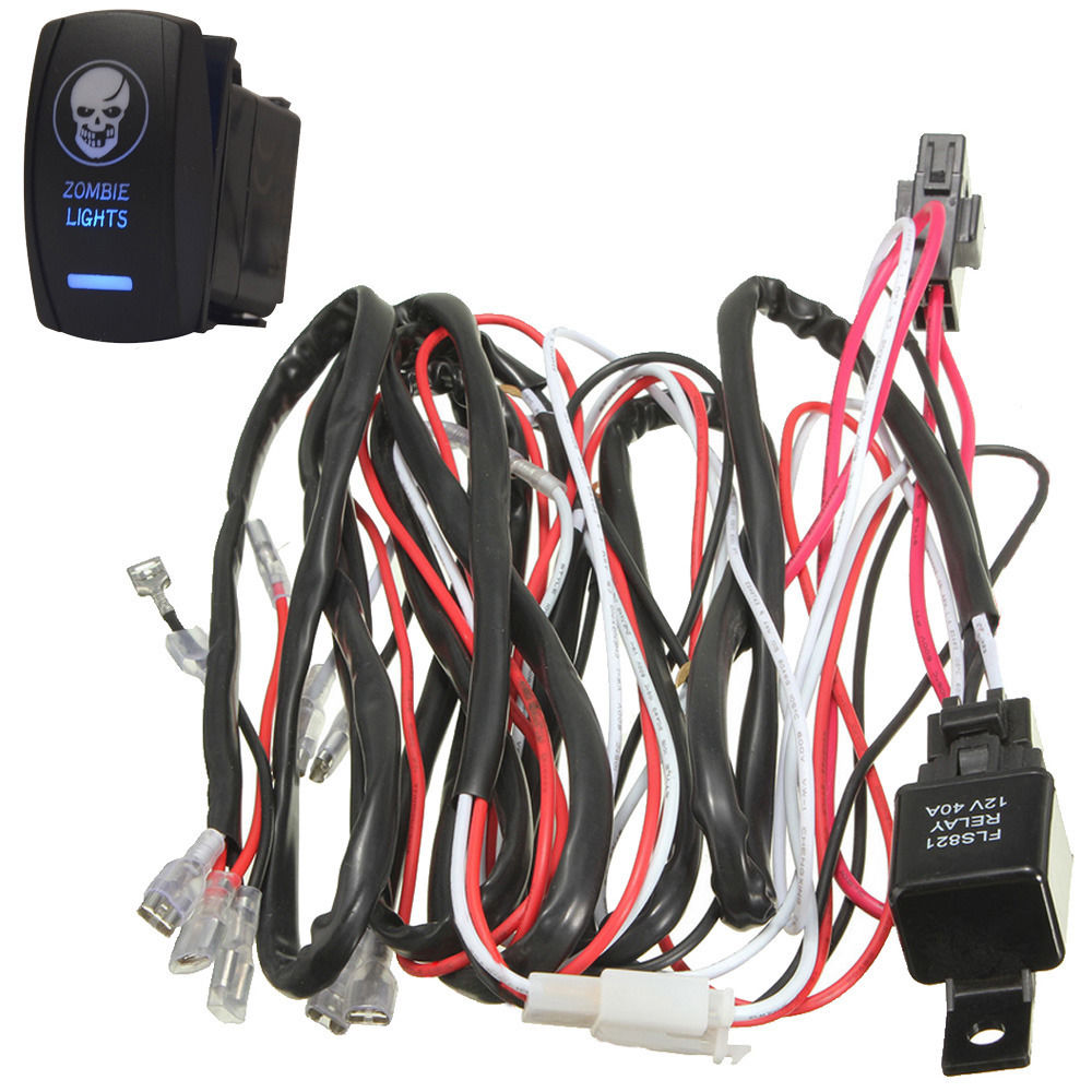 Ee Support 40a Laser Rocker Switch Relay Fuse Wiring Harness Kit Led Light Zombie On Off Xy01 In Car Switches Relays From Automobiles Motorcycles