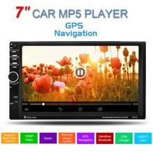 GPS de 7 pulgadas 2 Din HD Pantalla Táctil de Apoyo llamadas manos libres Estéreo Del Coche FM Reproductor MP5 USB SD TF de Radio Bluetooth